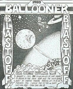 1980年イベントパンフレット。同年「FAT TIRE FLYER」も創刊された。
