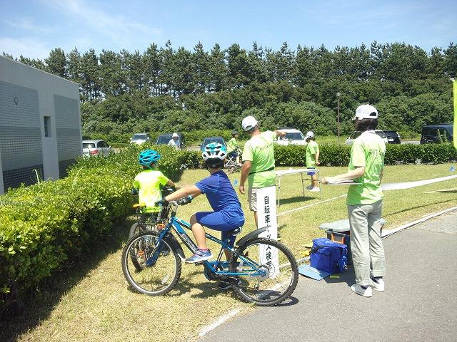 自転車キッズ検定体験会も開催